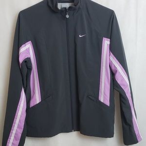 Nike Womens Polyester Dri-Fit Jacket Gray and Pink